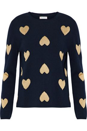 CHINTI AND PARKER Metallic intarsia wool-blend sweater