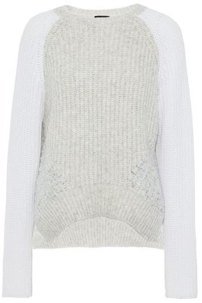 LINE Two-tone knitted sweater