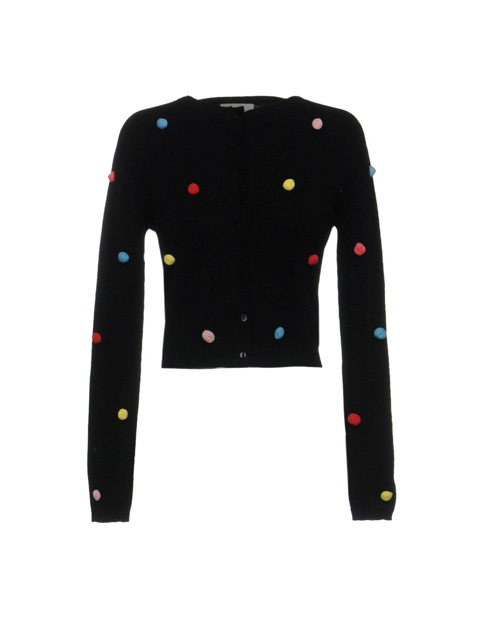 VICOLO Damen Strickjacke Farbe Schwarz Größe 1