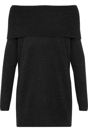 JOIE Off-the shoulder wool and cashmere-blend sweater