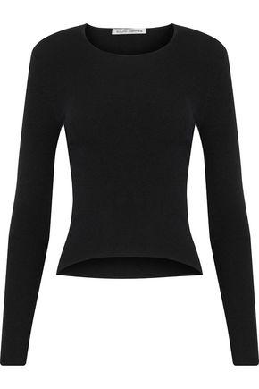AUTUMN CASHMERE Cutout merino wool-blend sweater