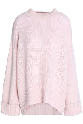 N.PEAL Oversized cashmere and wool-blend sweater