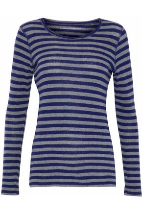 MAJESTIC FILATURES Striped cashmere and merino wool-blend sweater