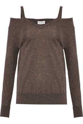 AUTUMN CASHMERE Cold-shoulder cashmere sweater