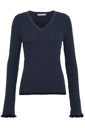 AUTUMN CASHMERE Ribbed cotton top