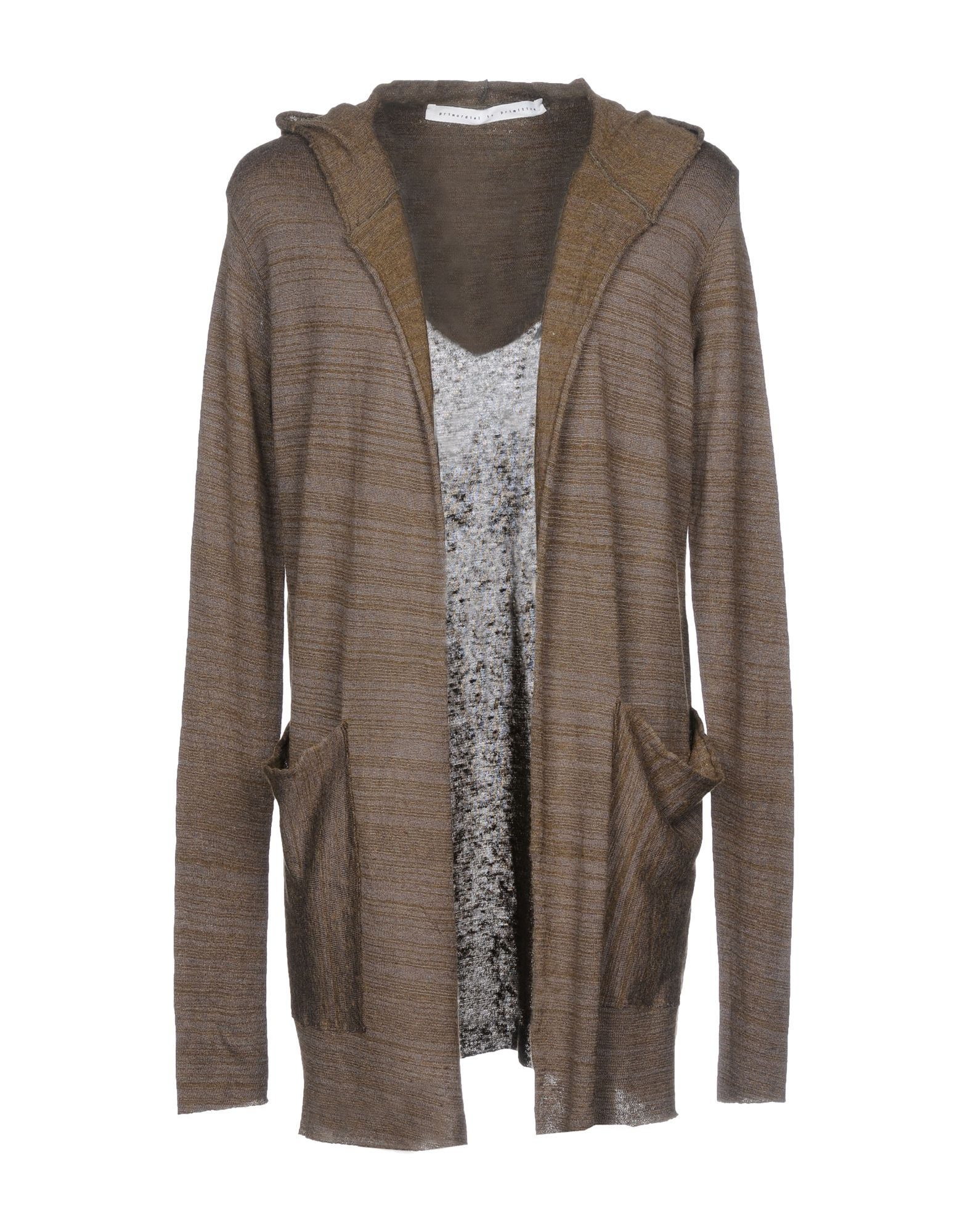 PRIMORDIAL IS PRIMITIVE Cardigan in Military Green