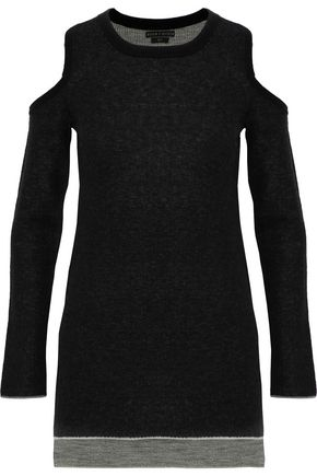 ALICE+OLIVIA Wade cold-shoulder wool and cashmere-blend tunic