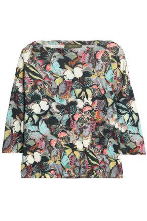 VALENTINO Printed cashmere top