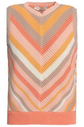 VALENTINO Striped cotton vest