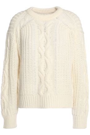 7 FOR ALL MANKIND Cable-knit wool-blend sweater