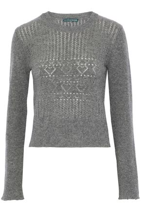 ALEXACHUNG Pointelle-knit wool sweater