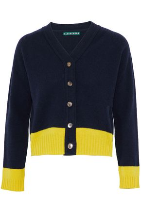 ALEXACHUNG Two-tone wool cardigan