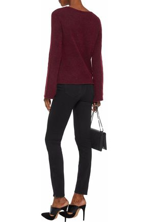 L'AGENCE Candela lace-up knitted sweater