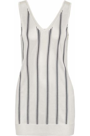 LANVIN Striped open-knit top