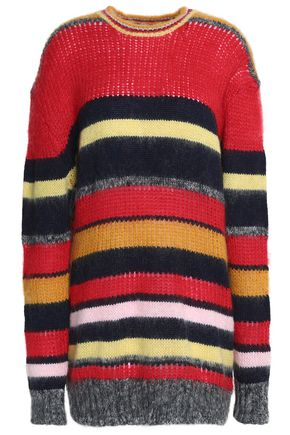 Oversized Striped Knitted Sweater by Alexa Chung