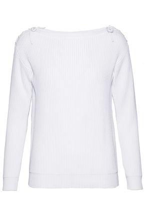 MAX MARA Lena lace-up ribbed cotton sweater