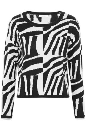 MAX MARA Geremia intarsia silk and cashmere-blend sweater