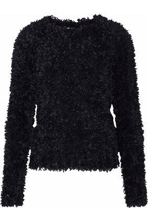MAX MARA Bleu bouclé-knit sweater
