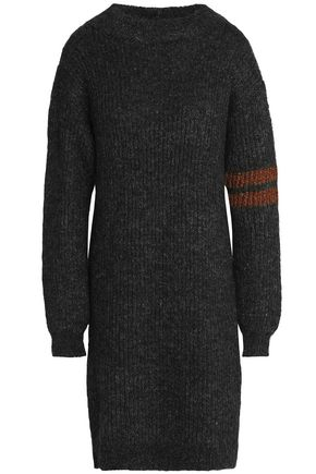 BY MALENE BIRGER Lamè trims wool -blend knited dress