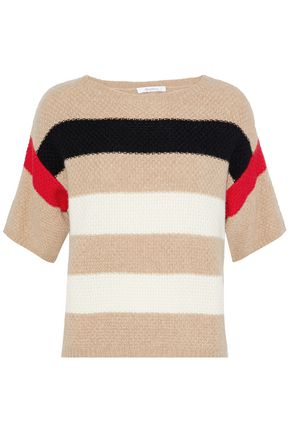 MAX MARA Striped crochet-knit cashmere sweater
