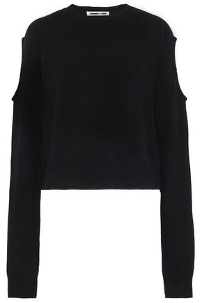 McQ Alexander McQueen Cutout wool and cashmere-blend sweater