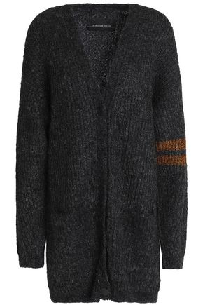 BY MALENE BIRGER Metallic-trimmed mélange ribbed-knit cardigan