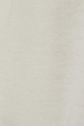 AUTUMN CASHMERE Tie-back cashmere T-shirt