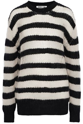 McQ Alexander McQueen Striped open-knit wool-blend sweater