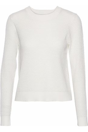 WOMAN CLOQUÉ SWEATER WHITE