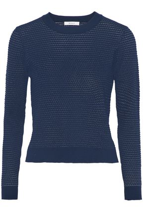 WOMAN CLOQUÉ SWEATER NAVY