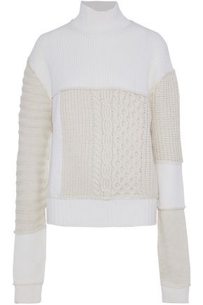 McQ Alexander McQueen Paneled wool and cashmere-blend sweater