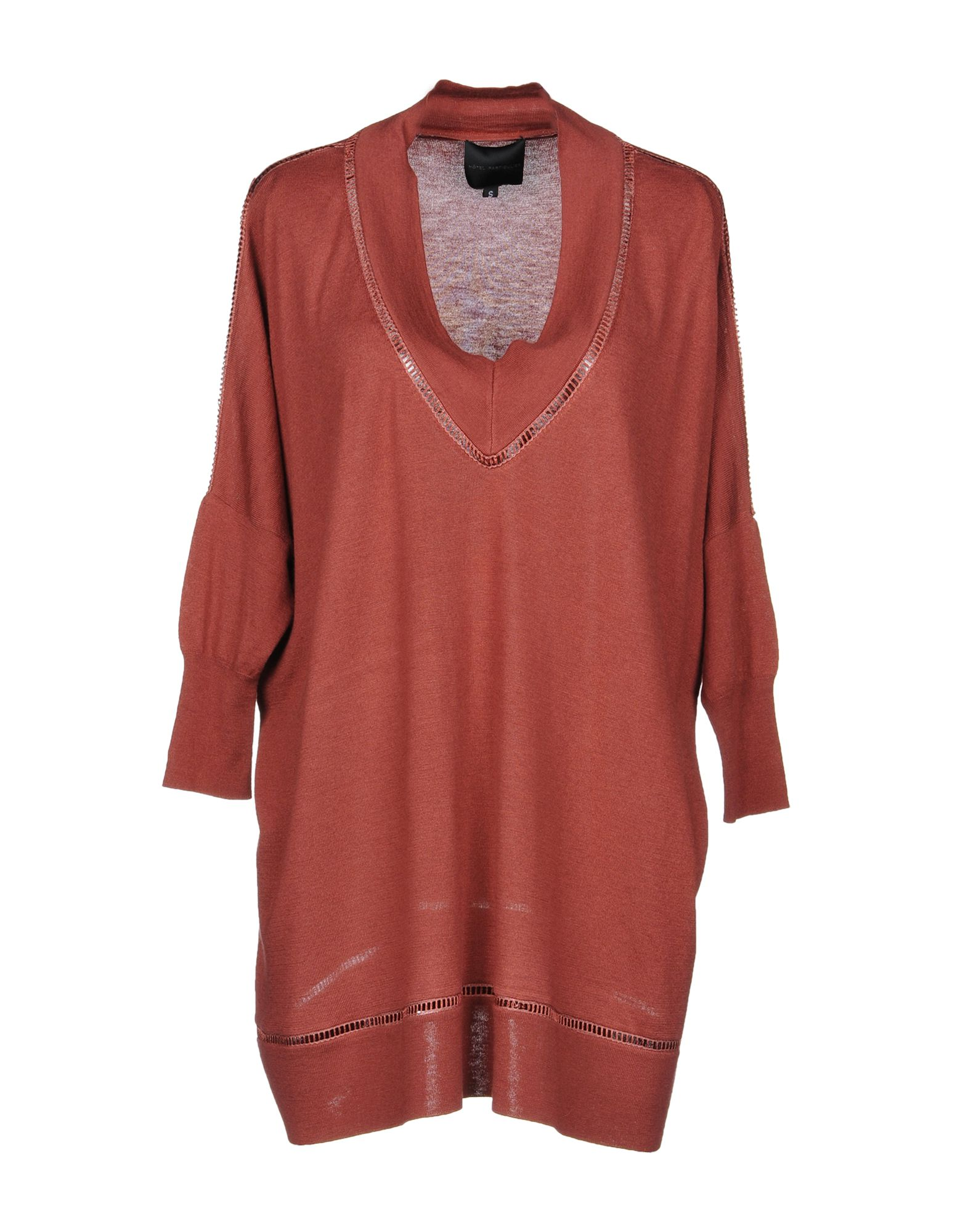 HOTEL PARTICULIER Sweater in Brick Red