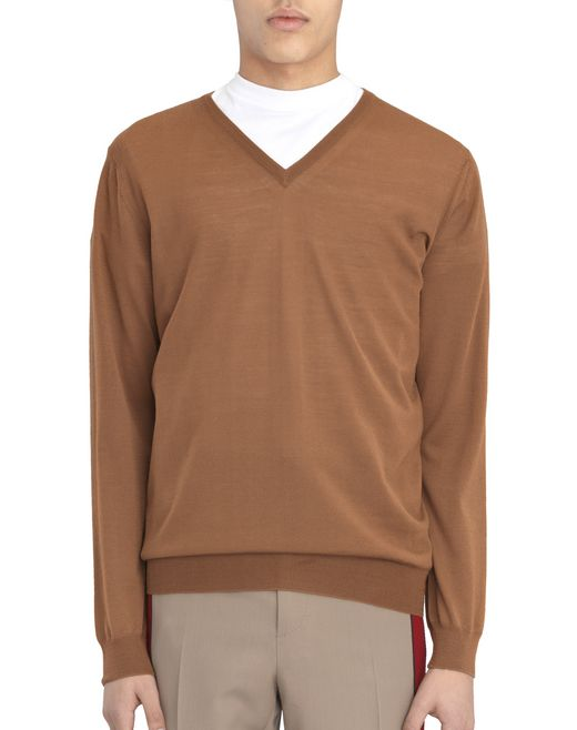 V-NECK JERSEY STITCH SWEATER  - Lanvin