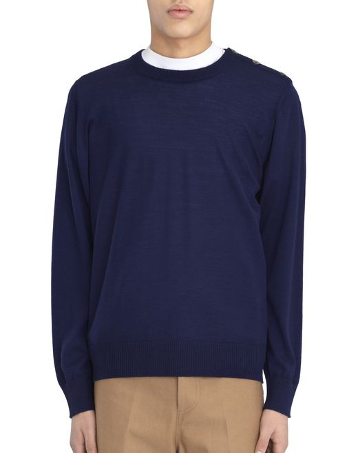TWO-TONED CREW-NECK SWEATER  - Lanvin