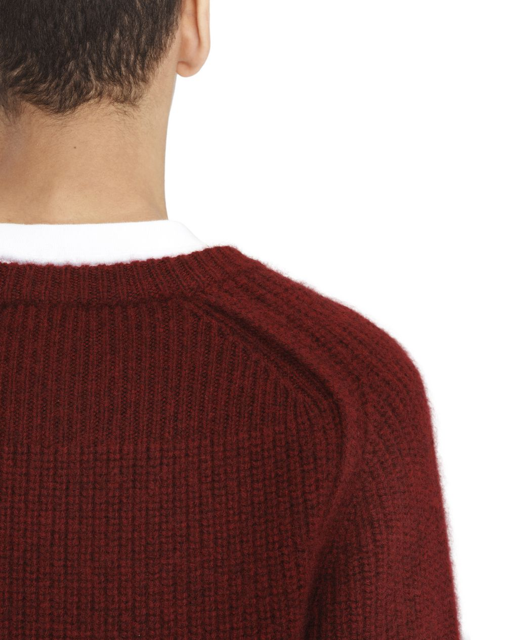 CREW-NECK SWEATER WITH MIXED RIBBING - Lanvin