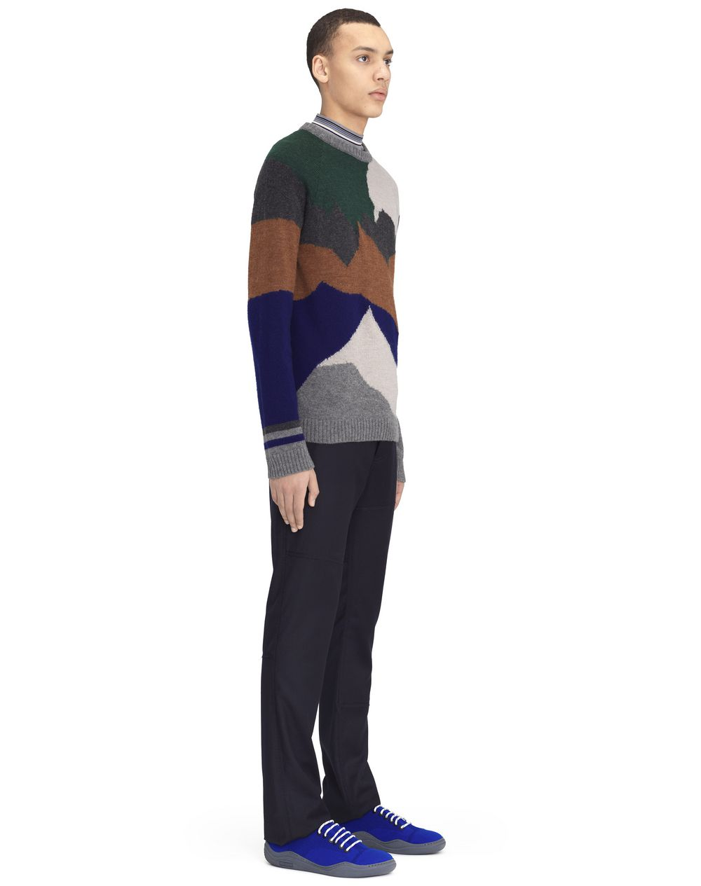 """CAMEL AND GRAY """"LANDSCAPE"""" SWEATER - Lanvin"""