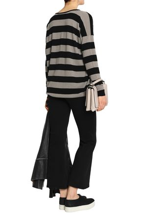 VINCE. Striped wool and cashmere-blend sweater