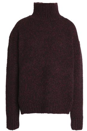 VINCE. Marled wool, cashmere and silk-blend turtleneck sweater