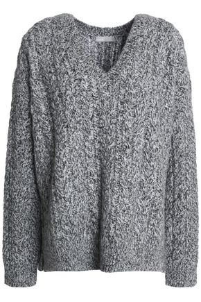 VINCE. Marled cable-knit sweater