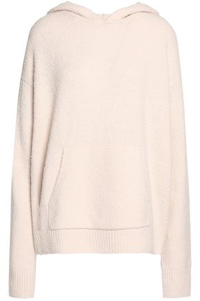 VINCE. Bouclé-knit wool-blend hooded sweatshirt