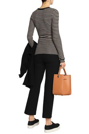 VINCE. Striped knitted Pima cotton top