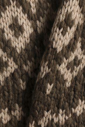 VINCE. Intarsia wool-blend turtleneck sweater