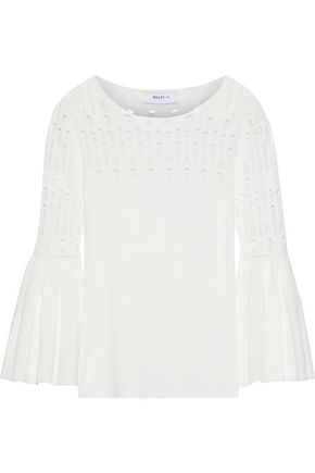 BAILEY 44 Street Fair pleated open-knit top