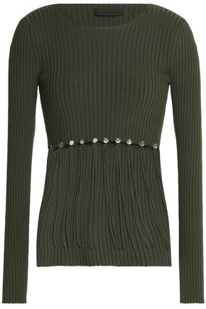 ALEXANDER WANG Convertible ribbed cotton sweater