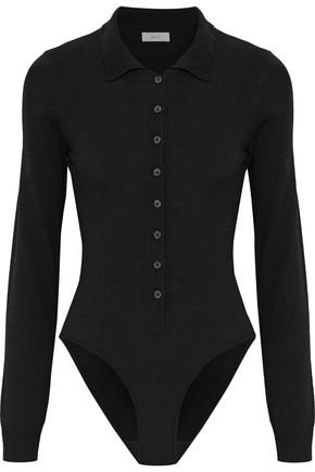 A.L.C. Button-detailed wool-blend bodysuit
