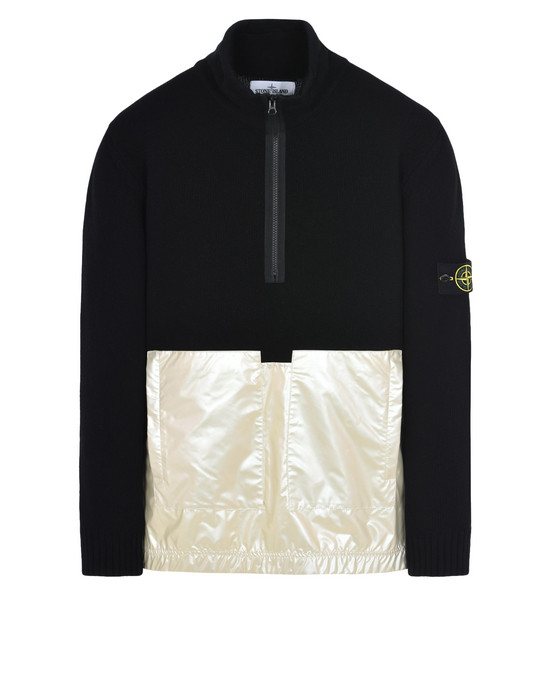 STONE ISLAND セーター 599MA LAMBSWOOL WITH IRIDESCENT COATING TELA