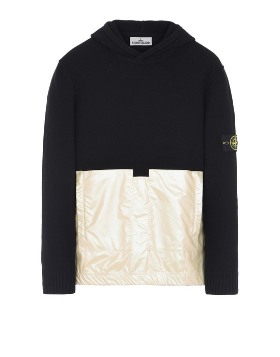 STONE ISLAND Sweater  598MA LAMBSWOOL WITH IRIDESCENT COATING TELA