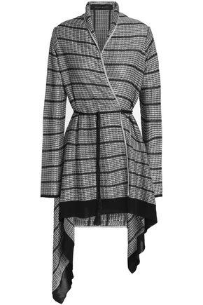 ROLAND MOURET Asymmetric metallic waffle-knit jacket