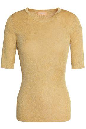 MICHAEL KORS COLLECTION Metallic ribbed-knit top