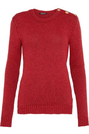 BALMAIN Button-detailed knitted sweater
